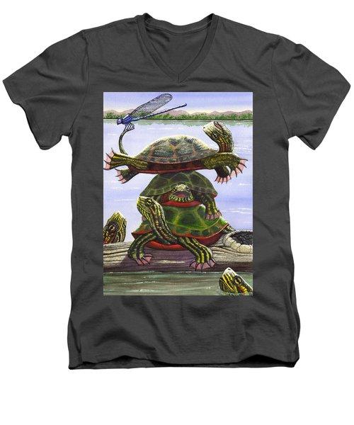 Turtle Circus Men's V-Neck T-Shirt