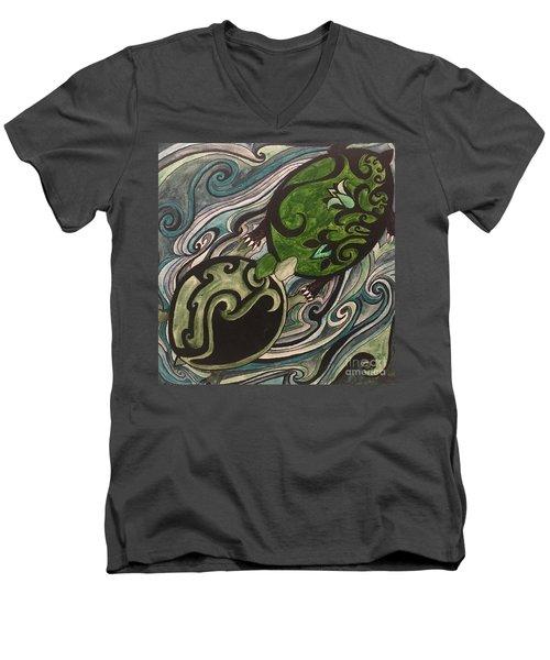 Turtle Love Men's V-Neck T-Shirt