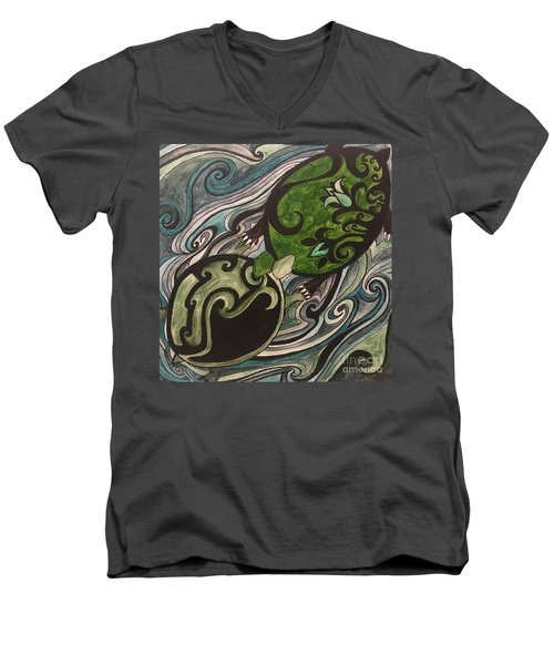 Turtle Love Men's V-Neck T-Shirt
