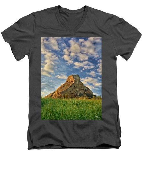 Turtle Rock Men's V-Neck T-Shirt