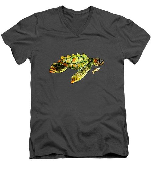 Turtle Talk Men's V-Neck T-Shirt