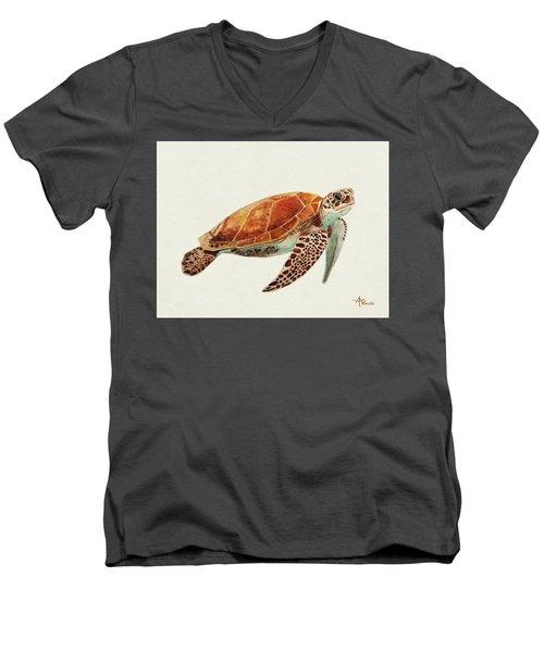 Turtle Watercolor Men's V-Neck T-Shirt