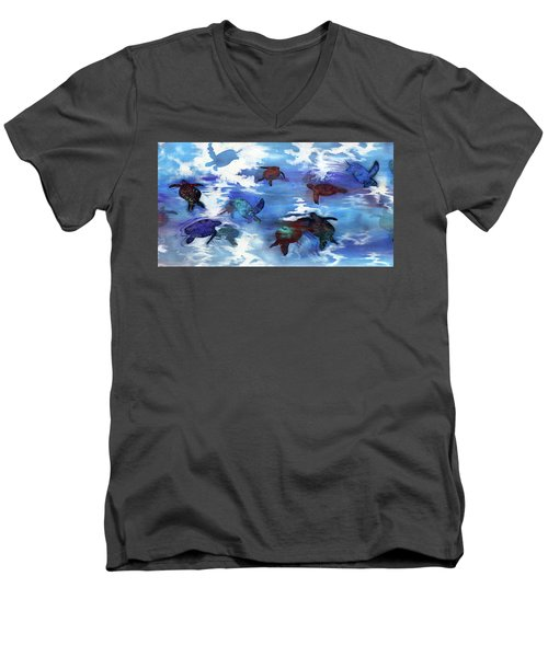 Turtles In Heaven Men's V-Neck T-Shirt