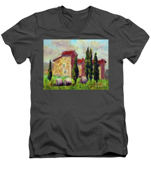 Tuscan House With Hay Men's V-Neck T-Shirt