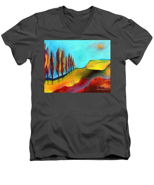 Tuscan Sentinels Men's V-Neck T-Shirt by Elizabeth Fontaine-Barr