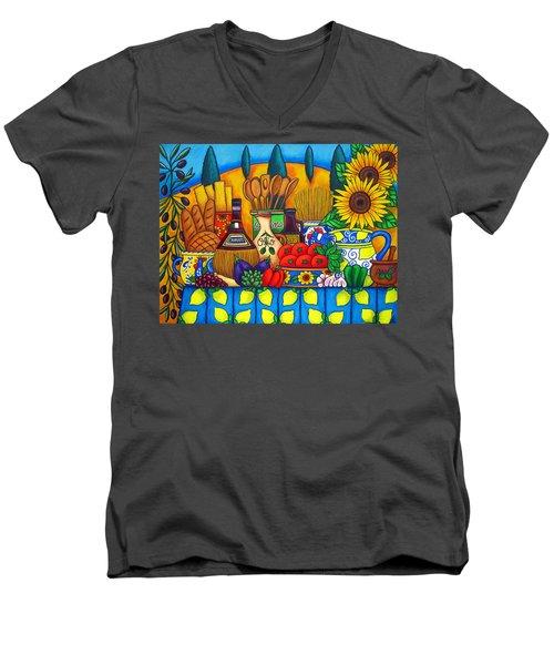 Tuscany Delights Men's V-Neck T-Shirt
