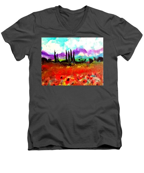 Tuscany Fields Men's V-Neck T-Shirt