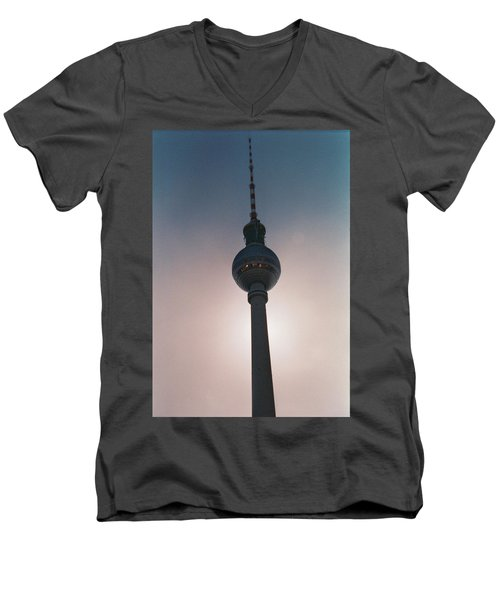 Tv Tower Berlin Men's V-Neck T-Shirt
