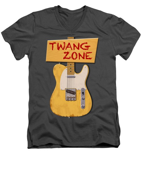 Twang Zone T-shirt Men's V-Neck T-Shirt