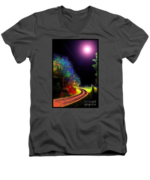 Twelve Dimensions Of Harmonic Delight Men's V-Neck T-Shirt by Susanne Still