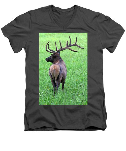 Twelve Point Stud Men's V-Neck T-Shirt