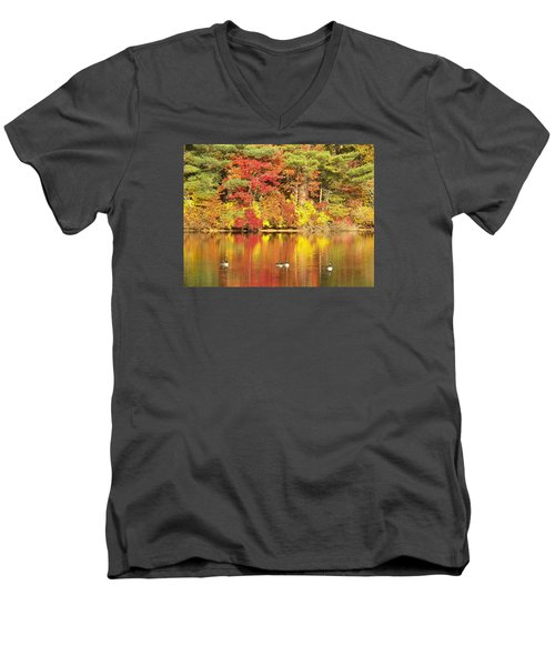 Twice The Feast Of Color Men's V-Neck T-Shirt