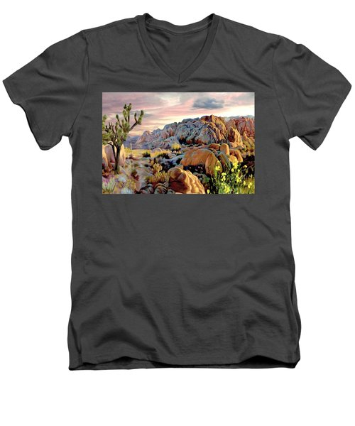 Twilight At Joshua Men's V-Neck T-Shirt