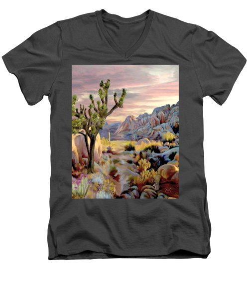 Twilight At Joshua   Vert. Men's V-Neck T-Shirt