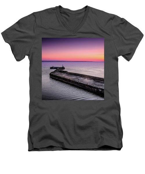 Twilight, Burghead Harbour Men's V-Neck T-Shirt