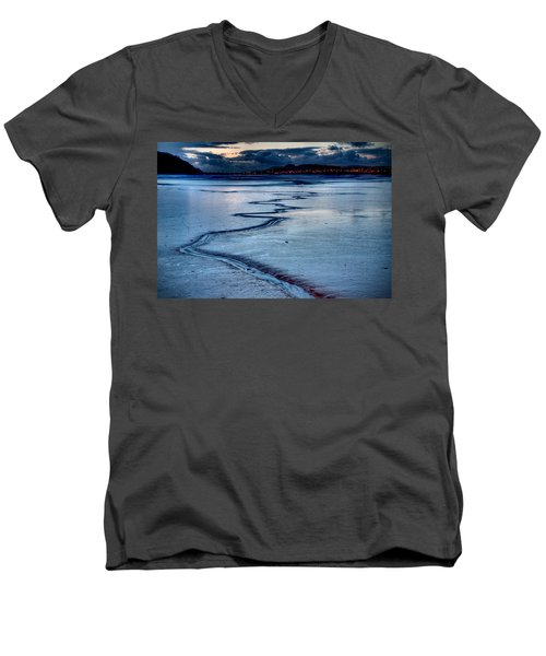 Twilight, Conwy Estuary Men's V-Neck T-Shirt