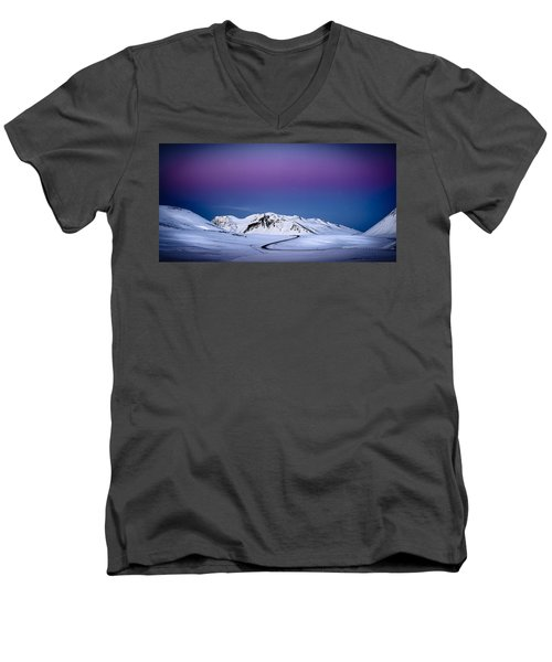 Twilight Glow, Iceland Men's V-Neck T-Shirt