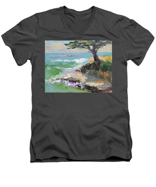 Twilight In Santa Cruz Men's V-Neck T-Shirt
