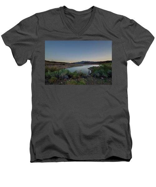 Twilight In The Desert Men's V-Neck T-Shirt