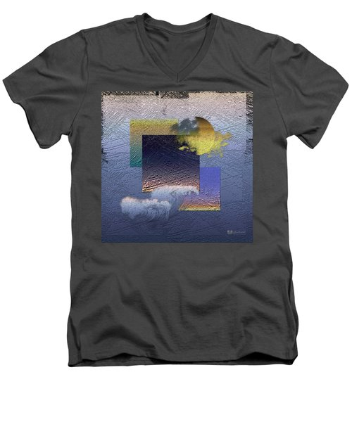 Twilight Interrupted By Ocean Breeze Men's V-Neck T-Shirt by Serge Averbukh