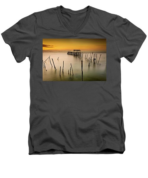Men's V-Neck T-Shirt featuring the photograph Twilight by Jorge Maia