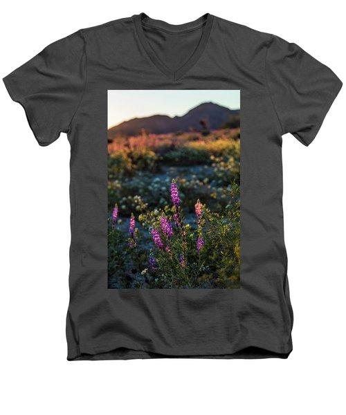 Twilight Lupine Men's V-Neck T-Shirt