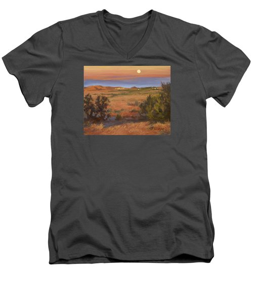 Twilight Moonrise, Valyermo Men's V-Neck T-Shirt
