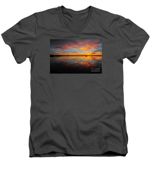 Twilight Reflection Men's V-Neck T-Shirt