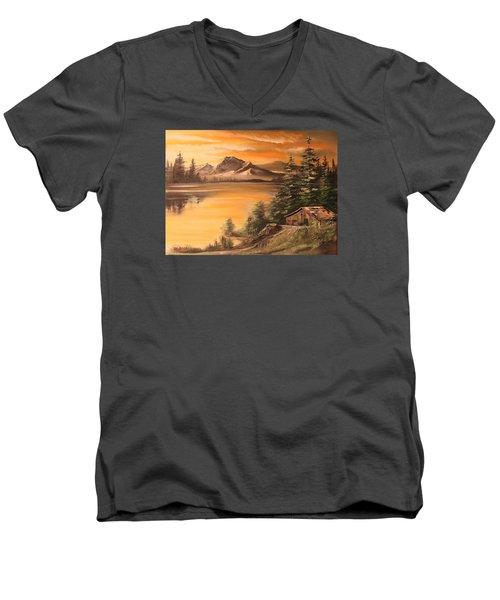 Twilight Men's V-Neck T-Shirt by Remegio Onia
