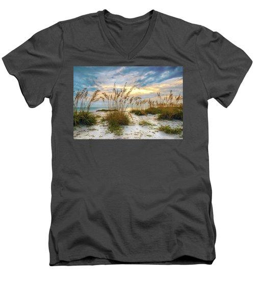 Twilight Sea Oats Men's V-Neck T-Shirt