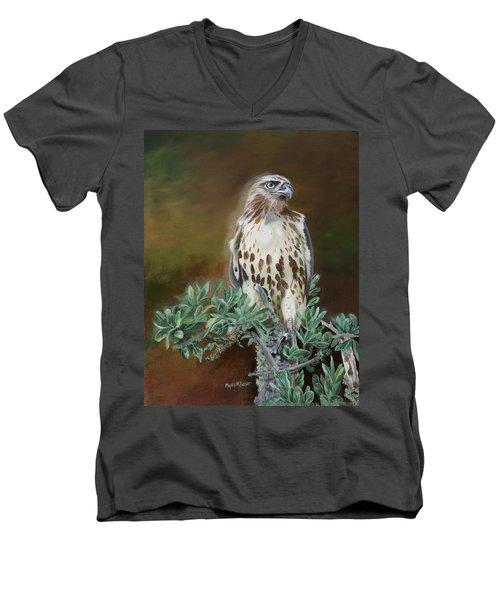 Twilight Sentinel Men's V-Neck T-Shirt by Phyllis Beiser