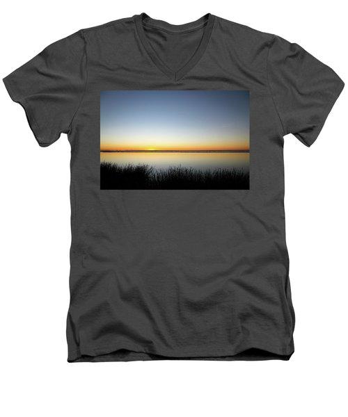 Twilight Stillness Down By The Beach Lagoon Men's V-Neck T-Shirt