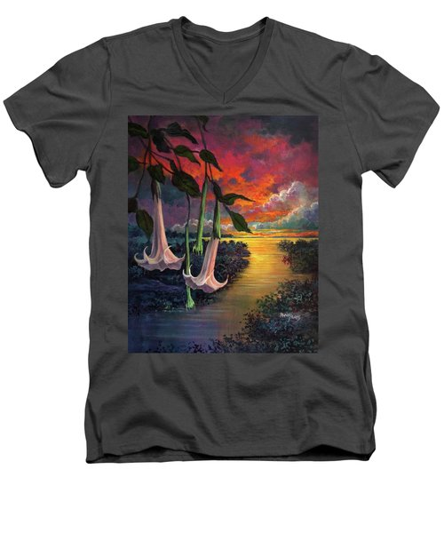 Twilight Trumpets Men's V-Neck T-Shirt