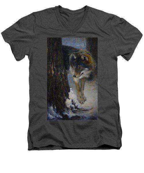 Twilight's Preyer  Men's V-Neck T-Shirt