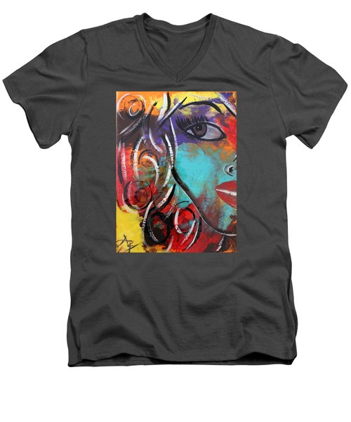 Twin 1 Men's V-Neck T-Shirt