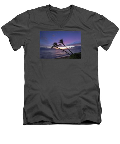 Twin Palms  Men's V-Neck T-Shirt by James Roemmling