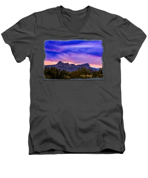 Twin Peaks H30 Men's V-Neck T-Shirt by Mark Myhaver