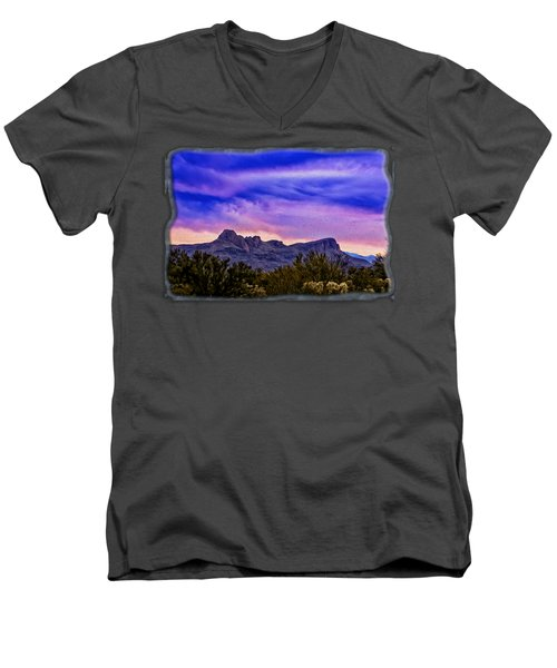 Twin Peaks H31 Men's V-Neck T-Shirt by Mark Myhaver