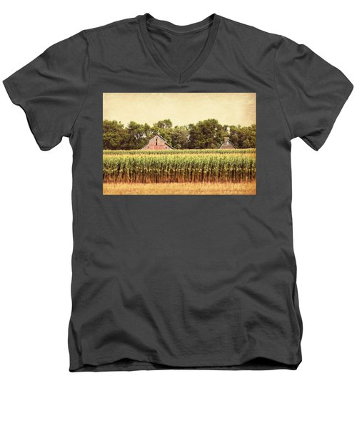 Men's V-Neck T-Shirt featuring the photograph Twin Peaks by Julie Hamilton