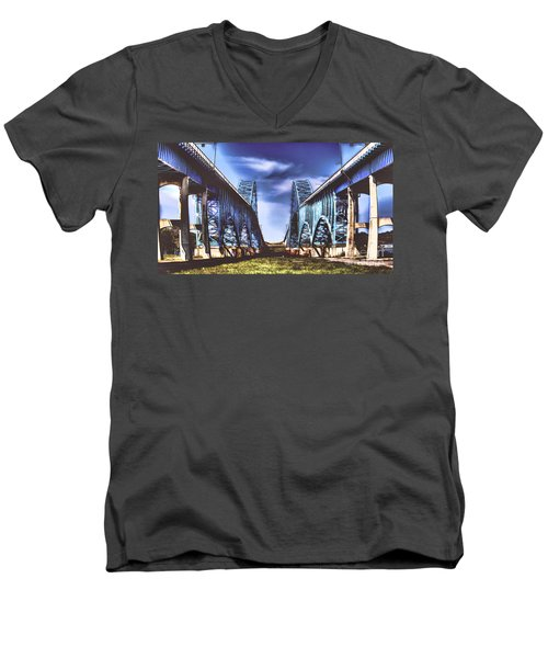 Twin Spanned Arched Men's V-Neck T-Shirt