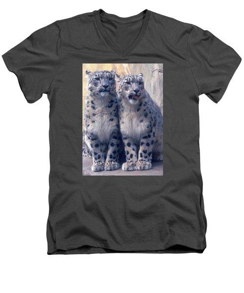 Twins Men's V-Neck T-Shirt by Greg Slocum