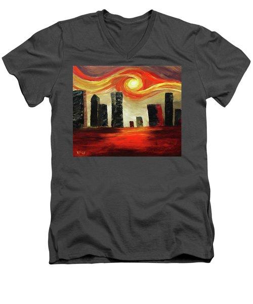 Twisted City Men's V-Neck T-Shirt