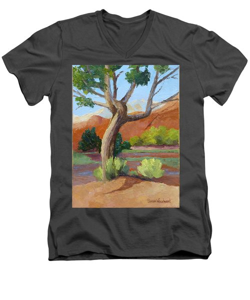 Twisted Men's V-Neck T-Shirt by Susan Woodward