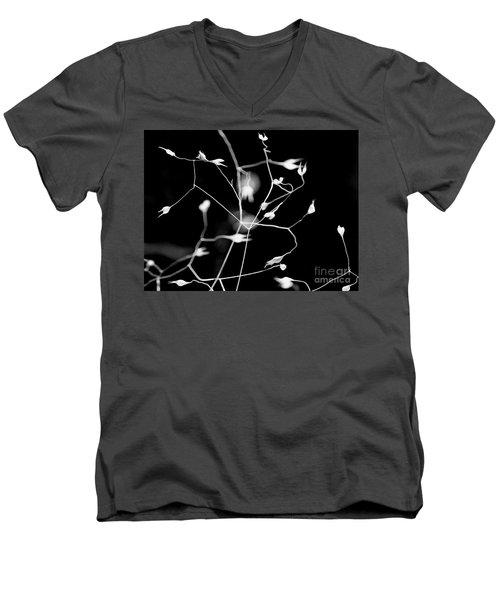 Twittering Seed Pods Bw Men's V-Neck T-Shirt
