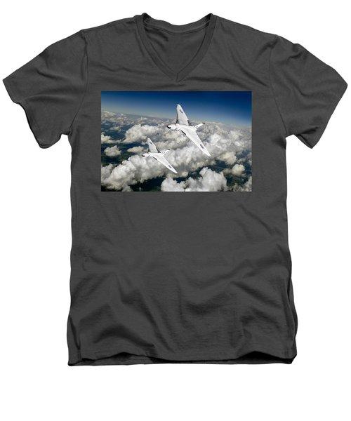 Two Avro Vulcan B1 Nuclear Bombers Men's V-Neck T-Shirt