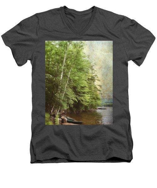 Two Birches Men's V-Neck T-Shirt
