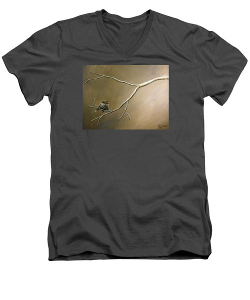 Two Birds On A Branch Men's V-Neck T-Shirt