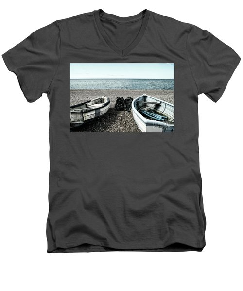 Two Boats On Seaford Beach Men's V-Neck T-Shirt
