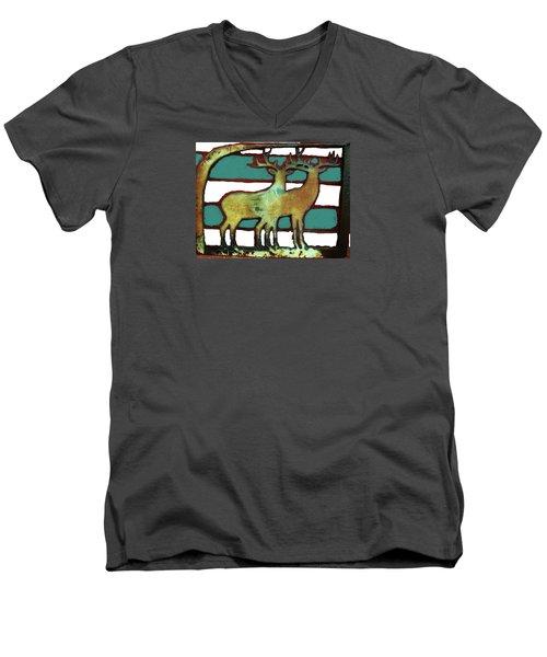 Two Bucks 3 Men's V-Neck T-Shirt