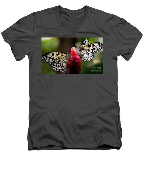 Two Butterflies Men's V-Neck T-Shirt